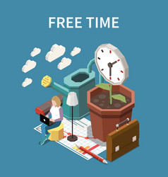 free time concept vector image