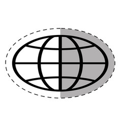 globe school thin line vector image