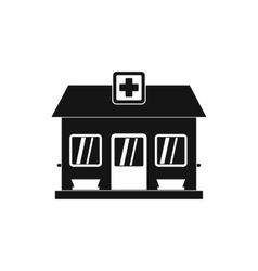 Hospital building icon simple style vector