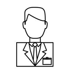 Hotel receptionist man icon vector