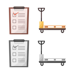 Isolated object of goods and cargo icon vector