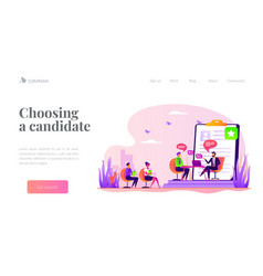 Job interview landing page template vector