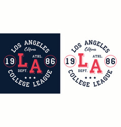 La college league print for t-shirt design vector