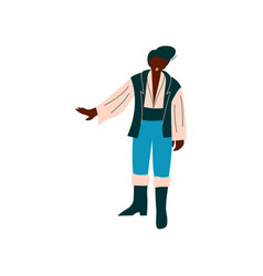 male opera singer performing on stage african vector image