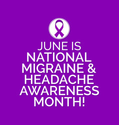 Migraine and headache awareness month vector