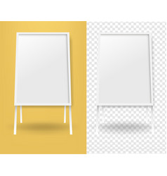 mockup banner stend isolated yellow and vector image