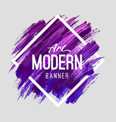 Modern art banner vector