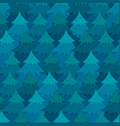 Mysterious pattern with blue coniferous forest vector