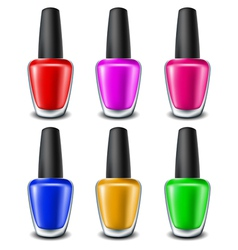 Nail polish set vector