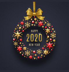 New year 2020 vector