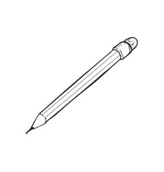 pencil sketch isolated vector image