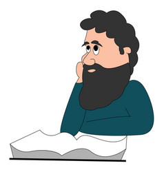 philosopher on white background vector image