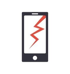 Phone broken simple icon vector