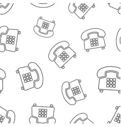 phone seamless pattern background business flat vector image