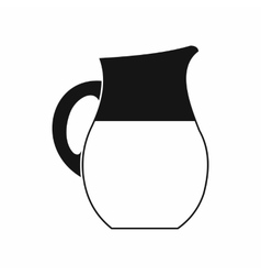Pitcher of milk icon simple style vector image