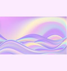rainbow wavy pastel background sunrize and sea vector image