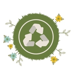 Recycle arrows icon vector