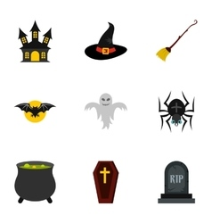Resurrection of dead icons set flat style vector image