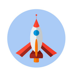 Rocket flat icon rocket icon g vector