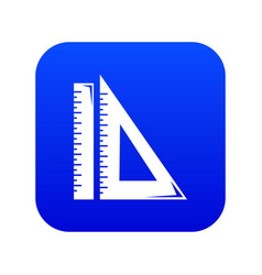 Ruler icon blue vector
