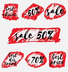 sale stickers set on white vector image