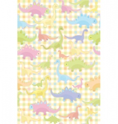 Seamless pattern of cute dino vector