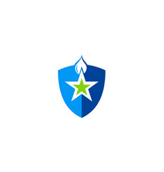 Shield star water protect logo vector