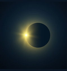 solar eclipse total eclipse sun with vector image