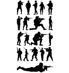 soldiers vector image