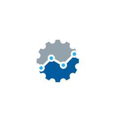 Stats gear logo icon design vector