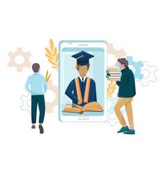 student graduation app flat style symbols vector image