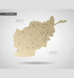 Stylized afghanistan map vector