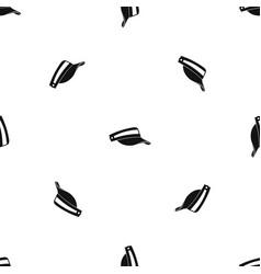 sun cap pattern seamless black vector image