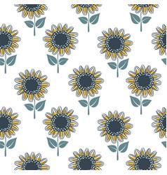 Sunflower seamless pattern cute design for fabric vector