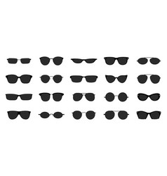 Sunglasses icon set black glasses optic frames vector
