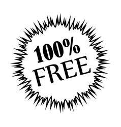 thin line 100 free icon vector image