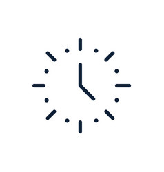 time clock hour date linear design vector image