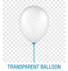 Transparent white ballon on a blue stick vector