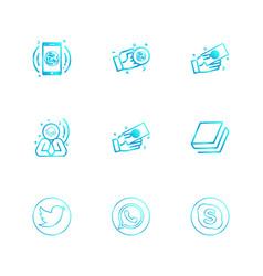 Twitter whatsapp skype book nexus nxs vector