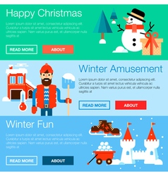 Winter Fun Banners vector image