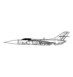 Yakovlev yak-28p firebar vector