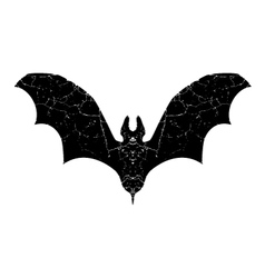black bat silhouette vector image vector image