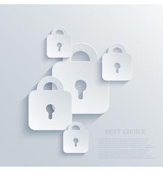 modern lock background Eps 10 vector image