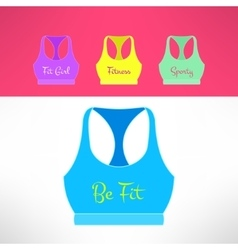 tank top with printing in modern flat vector image