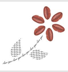 unique valentine card vector image vector image