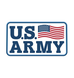 us army emblem flag of america armed forces of vector image vector image