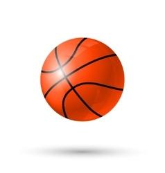Baskettball ball icon vector image