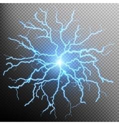 Blue flash light effect EPS 10 vector image vector image