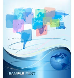 business abstract background vector image