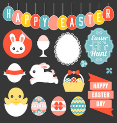easter ornament headline and icon vector image vector image